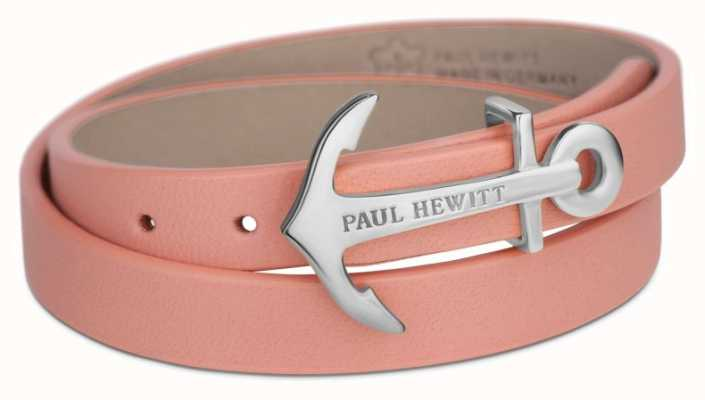 Paul Hewitt Jewellery Northbound Silver Anchor Aurora Leather Bracelet PH-WB-S-24S