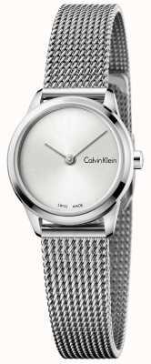 Calvin Klein Womans Minimal Watch Silver Dial K3M231Y6