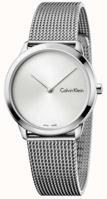 Calvin Klein Womans Minimal Watch Silver Dial K3M221Y6