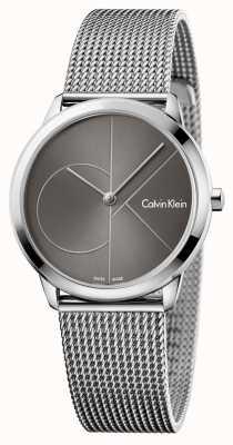 Calvin Klein Womans Minimal Watch Grey Dial K3M22123