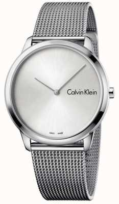 Calvin Klein Womans Minimal Watch Silver Dial K3M211Y6