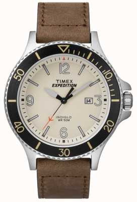 Timex Expedition Ranger Tan Leather Strap Natural Dial TW4B10600D7PF