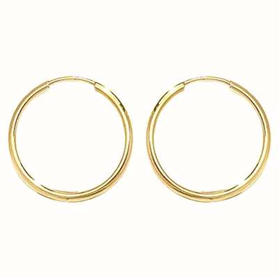 Treasure House 9k Yellow Gold 14mm Sleepers ES111
