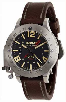 U-Boat Limited Edition U-42 GMT 50mm Brown Leather Strap 8095