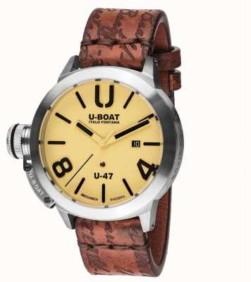U-Boat Classico 47 AS2 Automatic Brown leather Strap 8106