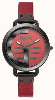Jean Paul Gaultier Womens Index G Red Leather Strap Red Dial JP8504321