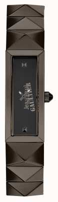 Jean Paul Gaultier Womens mini punk Gun Metal Bracelet Black Dial JP8504003