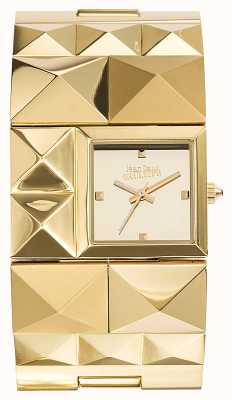 Jean Paul Gaultier Womens Over Punk Gold PVD Bracelet Gold Dial JP8504501