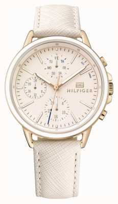 Tommy Hilfiger Lds Rose Gold With Pink Strap 1781789