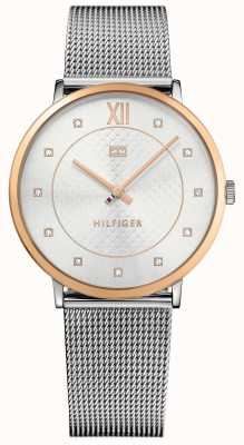 Tommy Hilfiger Sloane Lads Rose Gld With Mesh Stp 1781811