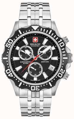 Swiss Military Hanowa Mens Patrol Chronograph Matt Black Dial 06-5305.04.007