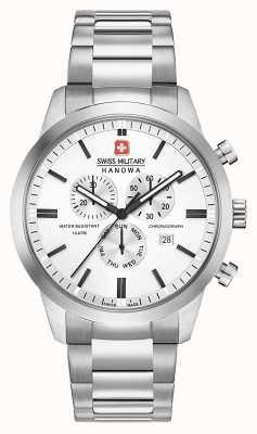 Swiss Military Hanowa Mens Chrono Classic Stainless Steel Dial 06-5308.04.001