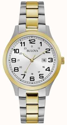 Bulova Womens Dress Watch Two Tone Stainless Steel Bracelet 98M128