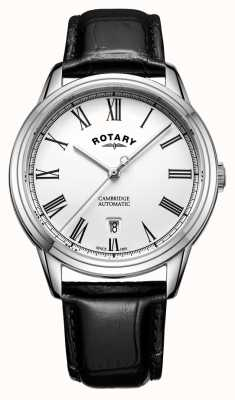 Rotary Mens Cambridge White Stainless Steel Automatic GS05250/01