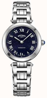 Rotary Womens Kensington Midnight Sky Steel Quartz Watch LB05190/67