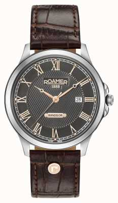Roamer Mens Windsor Brown Leather Strap 706856410207