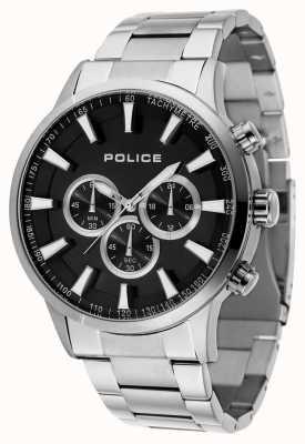 Police Mens Momentum Stainless Steel Bracelet Black Dial 15000JS/02M