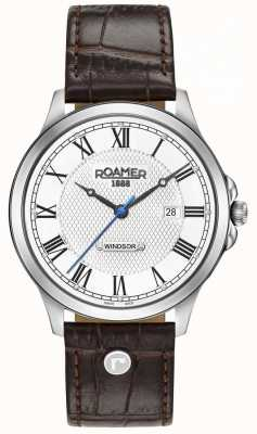 Roamer Mens Windsor Brown Leather Strap 706856411207