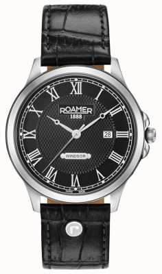 Roamer Windsor Black Dial Black Leather Strap 706856415207