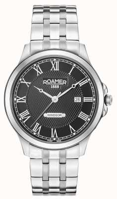 Roamer Mens Windsor Black Dial Stainless Steel Bracelet 706856415270