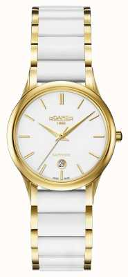 Roamer Womens C-Line White Ceramic Watch Gold Case 657844482560