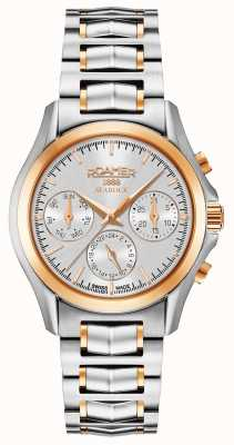 Roamer Womens Searock Chronograph Silver And Rose Gold 203901491520