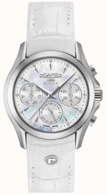 Roamer Womens Searock Chronograph White Leather Strap 203901411002