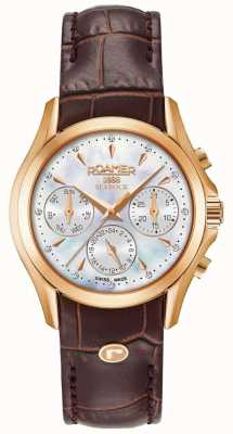 Roamer Womens Searock Chronograph Brown Leather Strap 203901491002