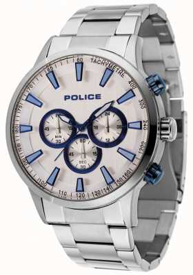 Police Momentum Stain Steel Bracelet With Silver Dial 15000JS/04M