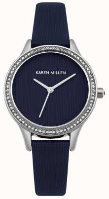 Karen Millen Navy Blue Leather Textured Dial KM165U