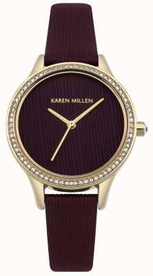 Karen Millen Mulberry Leather Textured Dial KM165VG