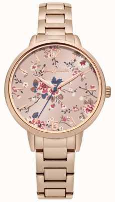 Cath Kidston Rose Gold Bracelet Floral Pink Dial CKL038RGM