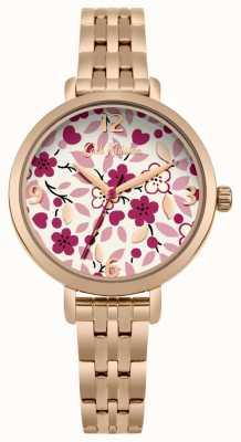 Cath Kidston Rose Gold Bracelet Flower Print Dial CKL037RGM