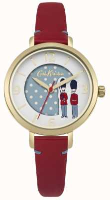 Cath Kidston Red Leather Strap White Dial CKL035RG