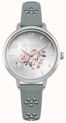 Cath Kidston Laser Cut Out Floral Strap Floral Dial Silver Case CKL043US