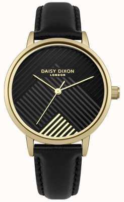 Daisy Dixon Black Strap With Matte Black Dial DD056BG