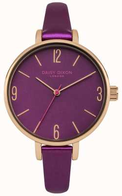 Daisy Dixon Metallic Mulberry PU Strap Mulberry Dial DD060VRG