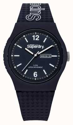 Superdry Blue Dial Blue Silicon Strap SYG179UU