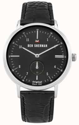 Ben Sherman The Dylan Professional Black Dial Black Leather Strap WBS102BB