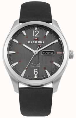 Ben Sherman The Sugarman Heritage Grey Dial Black Leather Strap WBS105B