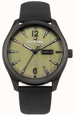 Ben Sherman The Sugarman Heritage Green Dial Black Stainless Steel Case WBS105BB