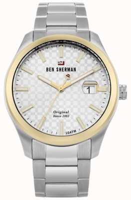 Ben Sherman The Ronnie Professional Silver Dial Gold Case Stainless WBS109GSM