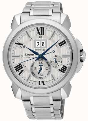 Seiko Kinetic Perpetual Calendar Stainless Steel SNP139P1