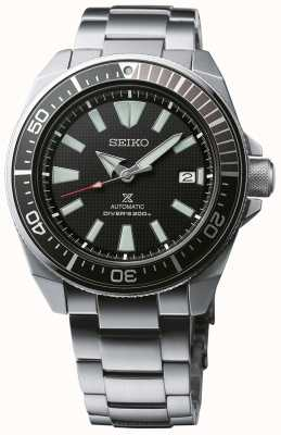 Seiko Prospex Samurai Patterned Dial Screw Down Crown Stainless SRPB51K1