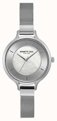 Kenneth Cole Womens New York Silver Case Stainless Steel Mesh Bracelet KC15187002