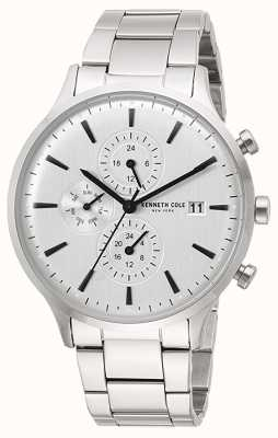 Kenneth Cole New York Date Display Silver Dial Stainless Steel Bracelet KC15181003