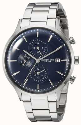 Kenneth Cole New York Date Display Blue Dial Stainless Steel Bracelet KC15181004