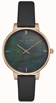 37ebbc3ac78e8 Ted Baker Womens Kate Black Mother Of Pearl Dial Rose Gold Case TEC0025001