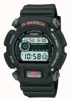 Casio G-Shock Digital Black Resin Chronograph DW-9052-1VER