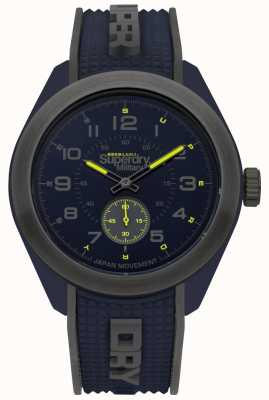 Superdry Navigator Military Blue And Grey Two Tone Case Rubber Strap SYG214U
